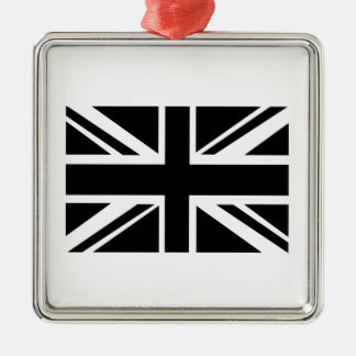 British Flag Silver-Colored Square Decoration