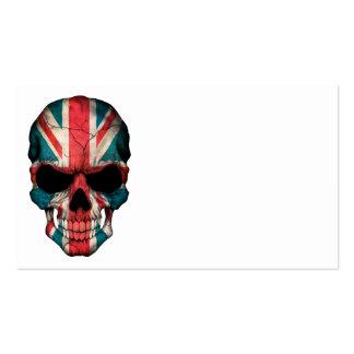 British Flag Skull Business Card Templates