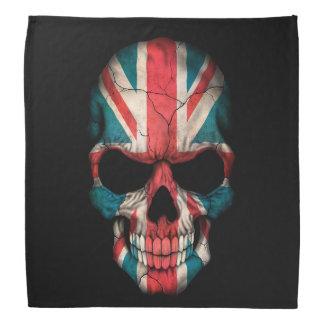 British Flag Skull on Black Bandana