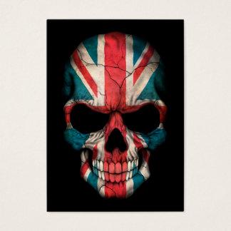 British Flag Skull on Black Business Card