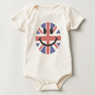 British Flag Smiley face Baby Bodysuit