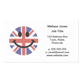 British Flag Smiley face Double-Sided Standard Business Cards (Pack Of 100)