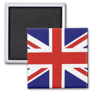 British flag square magnet