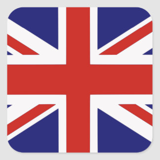 British flag square sticker