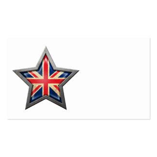 British Flag Star Business Card