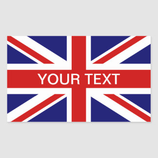 British flag stickers | personalizable union jack