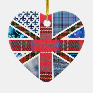 British Flag Tartan fabric pattern ornament
