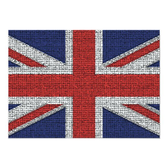 British Flag Tattered Card