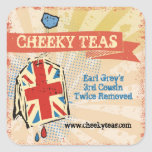 British flag teabag hand blended teas label sticker