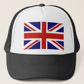 British flag trucker hat