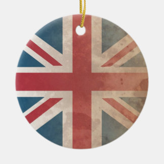 British Flag, (UK, Great Britain or England) Christmas Ornament