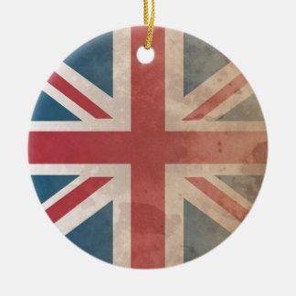 British Flag, (UK, Great Britain or England) Round Ceramic Decoration