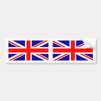 British Flag Union Jack Bumper Sticker