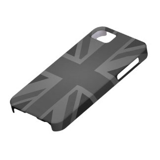 British Flag (Union Jack) in Black Barely There iPhone 5 Case