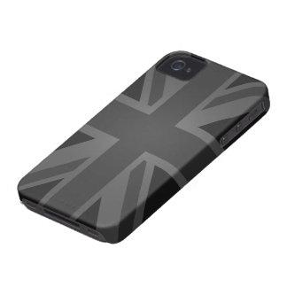 British Flag (Union Jack) in Black iPhone 4 Case