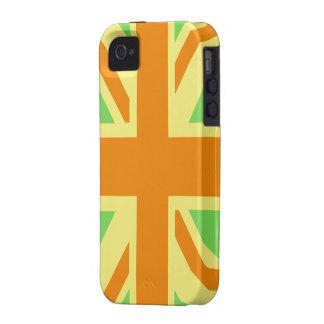 British Flag (Union Jack) in Green & Orange iphone Vibe iPhone 4 Cover