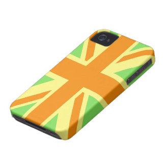 British Flag (Union Jack) in Green & Orange iphone iPhone 4 Case-Mate Cases