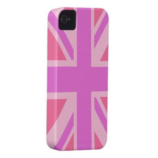 British Flag (Union Jack) in pink iphone iPhone 4 Case-Mate Case