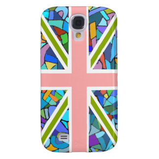 British Flag Union Jack inspired by Gaudi Mosaics Galaxy S4 Case