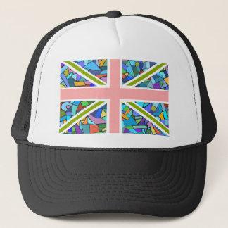 British Flag Union Jack inspired by Gaudi Mosaics Trucker Hat
