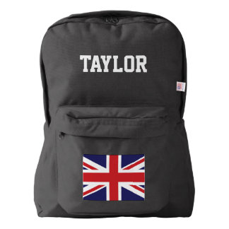 British flag Union Jack Name Customized Backpack