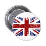 British Flag Union Jack Punk Grunge 6 Cm Round Badge