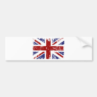 British Flag Union Jack Punk Grunge Bumper Sticker