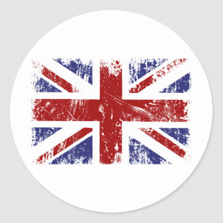 British Flag Union Jack Punk Grunge Classic Round Sticker