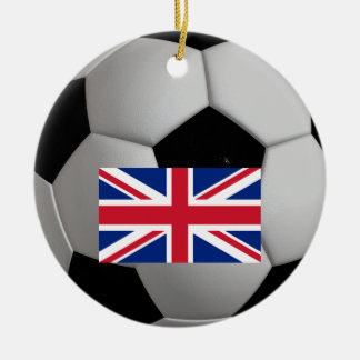 British Flag Union Jack Soccer Football Ornament