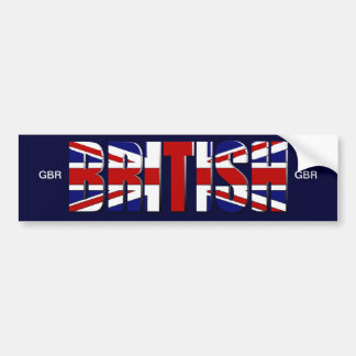 British flag United Kingdom England Wales Scotland Bumper Sticker