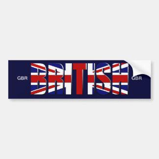 British flag United Kingdom England Wales Scotland Bumper Sticker