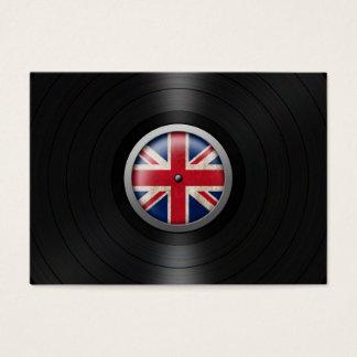British Flag Vinyl Record Album Graphic Business Card