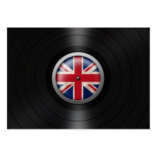 British Flag Vinyl Record Album Graphic Business Cards