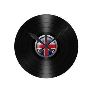 British Flag Vinyl Record Album Graphic Clocks