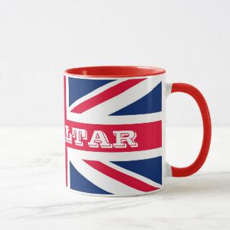 British Flag With Gibraltar Bold Text Mug