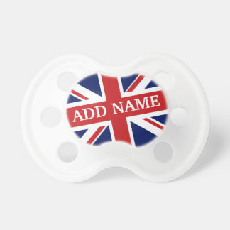 British Flag with Royal Baby Name Dummy