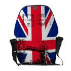 British Flag with Tower Bridge and Stamp Messenger Courier Bag