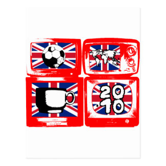 BRITISH FOOTBALL HEROES 4 telly Logo Postcard