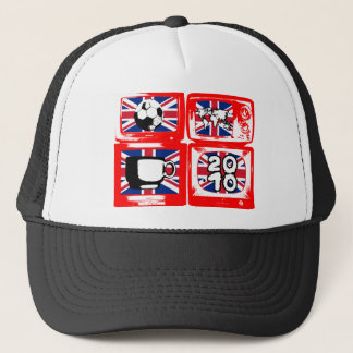 BRITISH FOOTBALL HEROES 4 telly Logo Trucker Hat