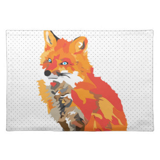 British Fox Drawing Placemat