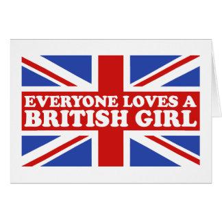 British Girl Greeting Card