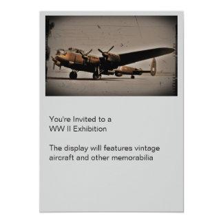 British Heavy Bomber 13 Cm X 18 Cm Invitation Card