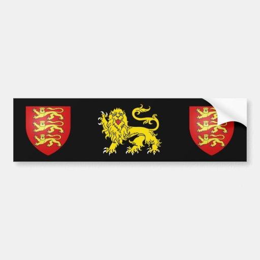 British Heraldry Lion Bumper Sticker