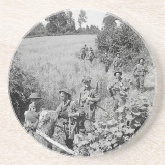 British in Normandy 1944 Coaster