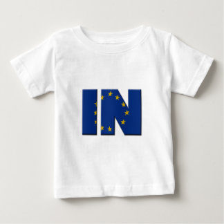 British In/Out EU referendum. IN with European Uni Baby T-Shirt