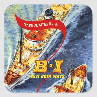British India ~ Best Both Ways Square Sticker