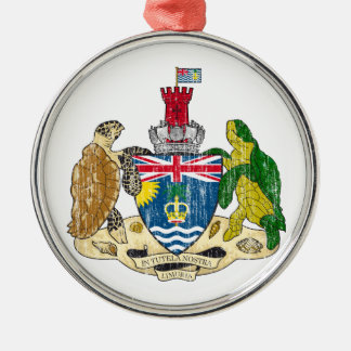 British Indian Ocean Territories Coat Of Arms Silver-Colored Round Decoration