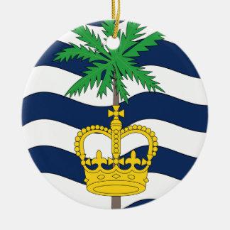 British Indian Ocean Territories Round Ceramic Decoration