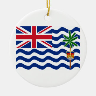 British Indian Ocean Territories Flag Round Ceramic Decoration