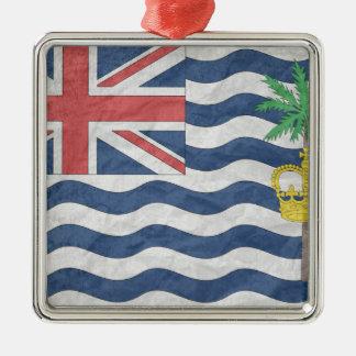 British Indian Ocean Territories Silver-Colored Square Decoration